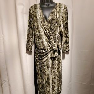 BEAUTIFUL gently used XL snakeskin print dress.